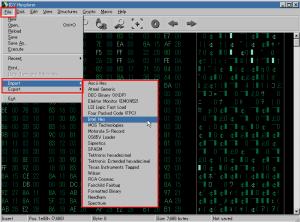Hexplorerファイルのインポート