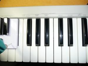 本物のキーボード配置