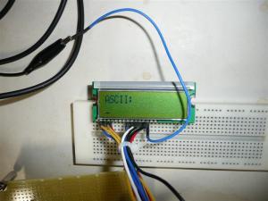 小型LCDで表示