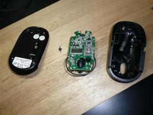 マウスを分解した直後の写真