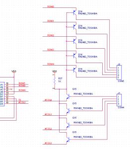 デジタルトランジスタに回路を変更