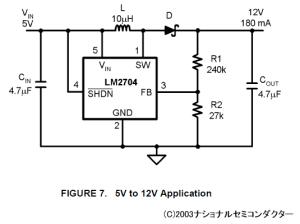 LM2704の回路図(C)2003ナショナルセミコンダクター