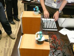 展示したD級アンプ+初音ミクレベルメーター