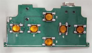 スイッチ基板 2本のネジで固定されている