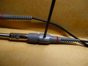 PDS5022Sのプローブをつけて調整1:10で使用