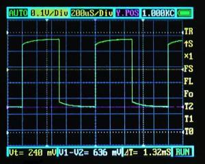 1KHz/DT50%/10:1 PDS5022Sプローブ1:10