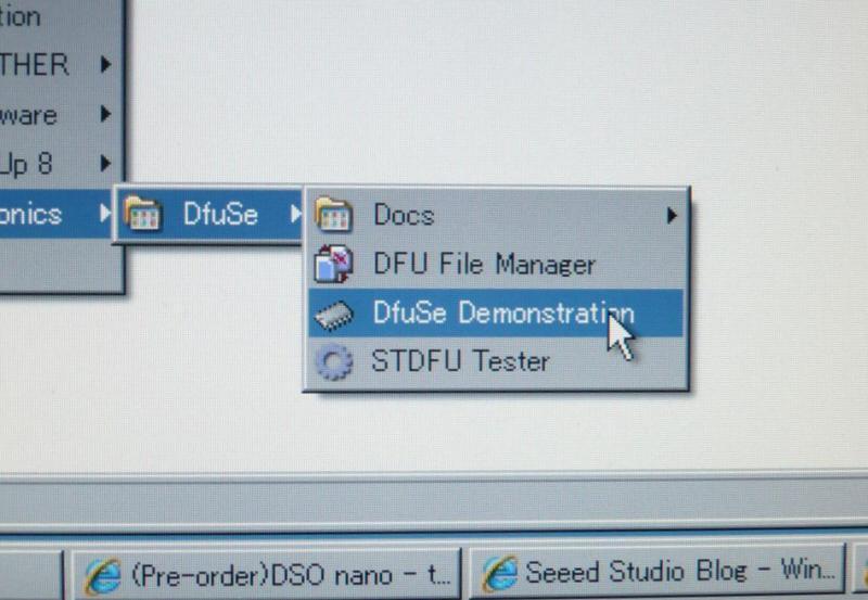 ファームウェア書き換えは、DfuSe Demonstrationを起動