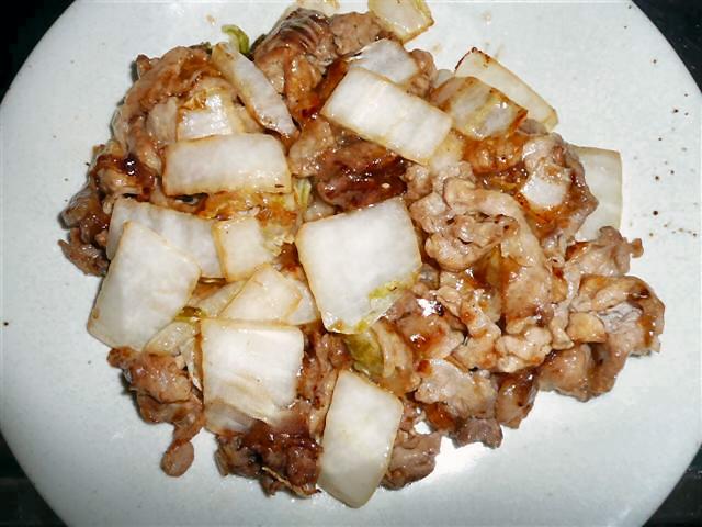白菜と豚肉炒め
