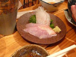 新鮮な真鯛の刺身が格安で食べられる