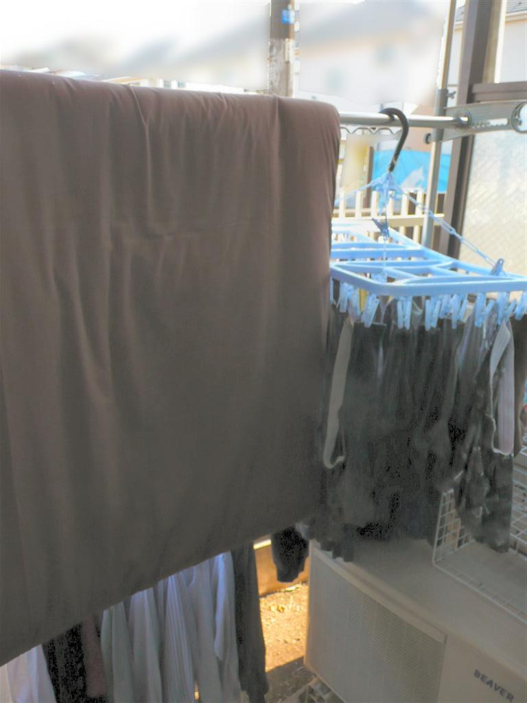 洗濯を済ませて、布団も干す