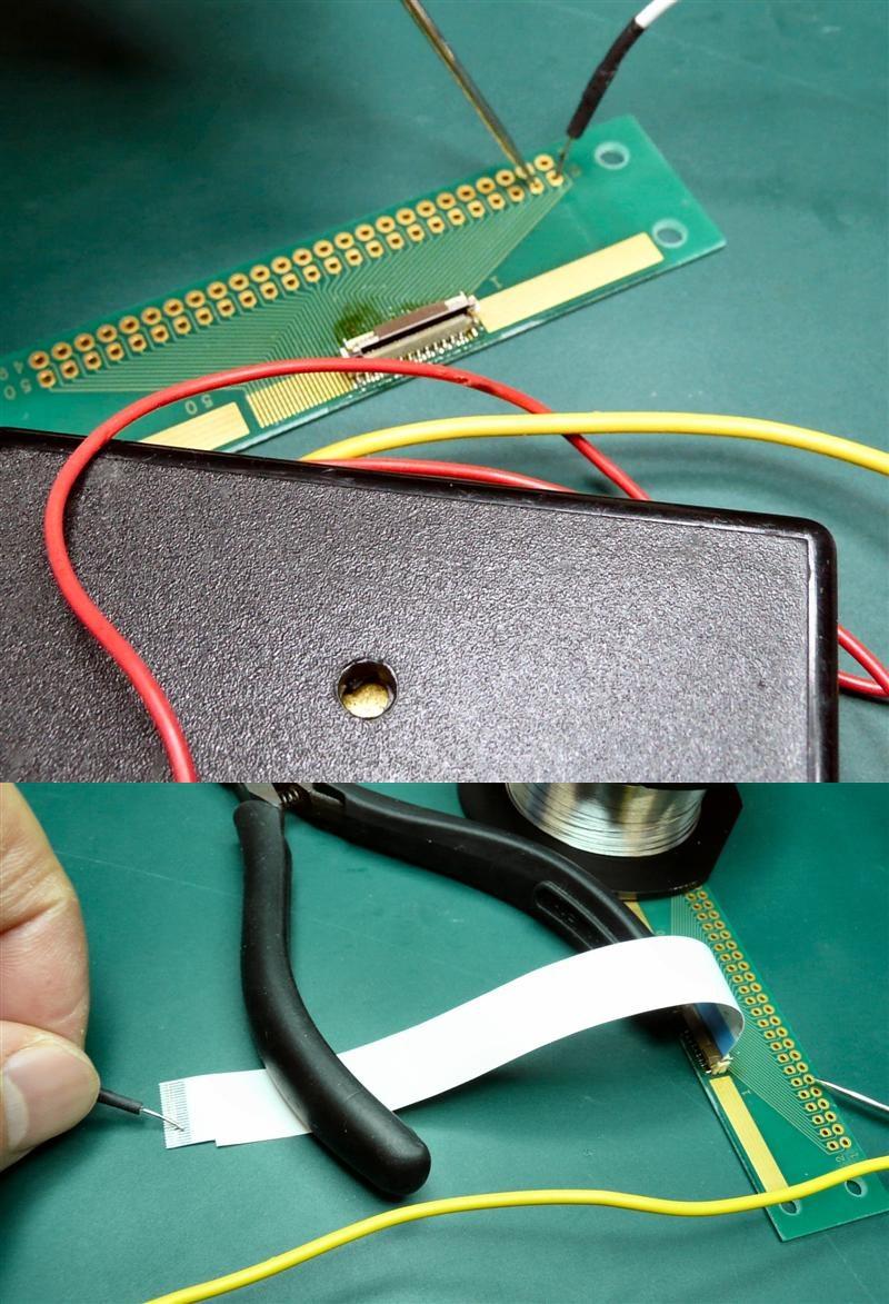 コネクターのハンダ付けが終われば、隣接ピンのショートチェックと、ケーブルの導通チェックをする