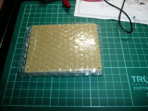 秋月 片面ガラス・ユニバーサル基板 Bタイプ 銅はく仕上げ (95x72mm)