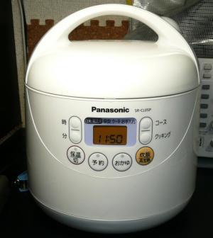 新しい炊飯器 パナソニック電子ジャーSR-CL5P