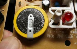 電池はCR2450がハンダ付け