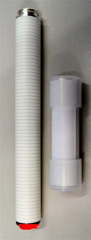 ツーピース構成で使い捨て LED内蔵