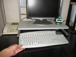 キーボードが収納できるレイアウト例