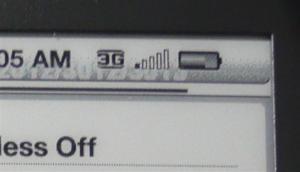 3Gで接続中