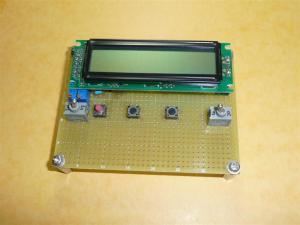 16x2の標準LCDではこんな感じ