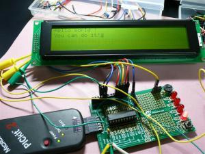 LCD40文字x4行 SC404Aを動作させてみた