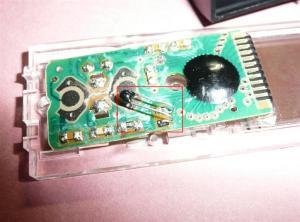 空中配線部分がサーミスターセンサー
