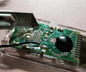電源スイッチを付けるための改造