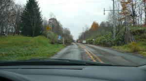塩狩峠の旧道は車両通行止め