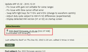 DSO nano ファームウェア BenFバージョン3.32公開!今の所の最強