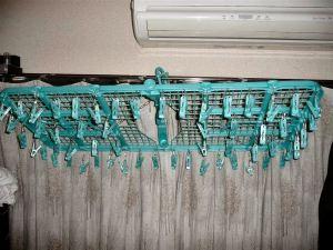 56個の洗濯ばさみは圧巻