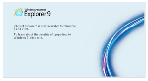 IE9の公式版は3月14日ダウンロード開始 しかし・・・