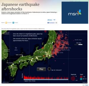 35秒で分かる東日本大震災後の余震経過