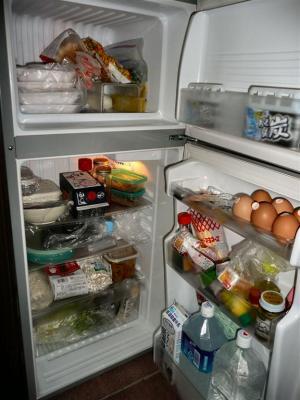 久しぶりに冷蔵庫に食材が