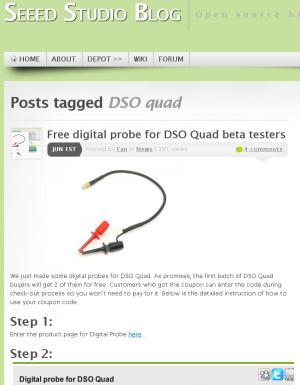DSO quad デジタルプローブ供給開始