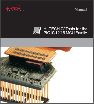 Microchipに吸収される前のHitech PICC Pro マニュアル表紙