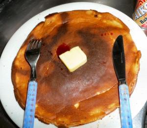 ありあわせの材料でホットケーキを焼いてみた