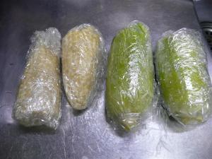粗熱を取り、ラップにくるんで、冷蔵 &冷凍