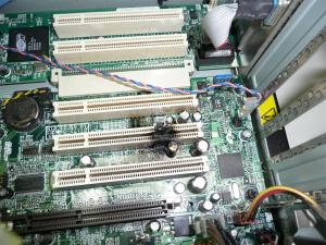 古いパソコンが燃えた事例