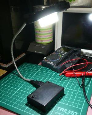 これは便利、超高輝度LEDで小型LEDスタンド