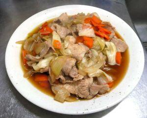 レタスの肉野菜炒め