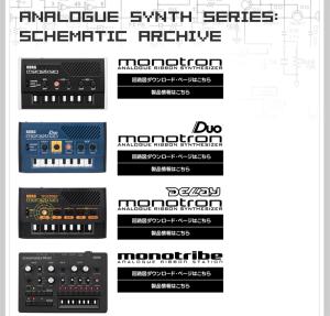 KORG monotronシリーズ公式回路図公開