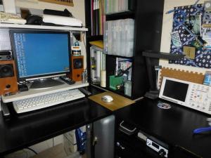 広くなった机の空間
