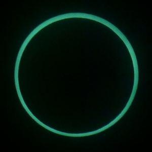 溶接ガラスで撮影した金環日食5/21 7:34