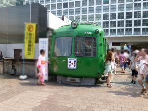 渋谷駅にある東急旧車両