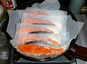 クッキングシートで大量の焼き魚