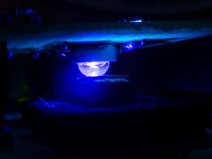 紫外線LEDでUVPROMを消去中