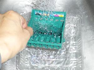 インクジェット部分を丸洗い