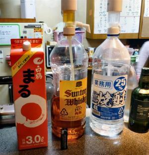 業務用のお酒4リットルペットボトル