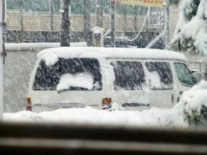 東京は一日中大雪
