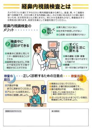鼻から入れる内視鏡検査
