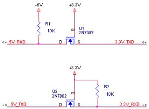 FETで異なる電圧のインターフェース