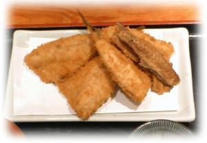 京橋 松輪 昼のアジフライ定食